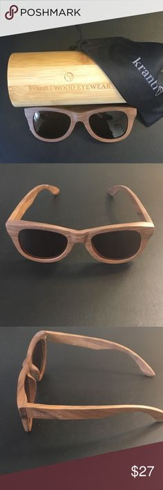 Walnut Wood Wayfarer Sunglasses | Polarized Lenses These shades have a curved, textbook fashion shape. They are particularly suited for those who like a traditional look pair of shades. They are equally as popular amongst both females and males. Spring-fit hinges, choice of Smoke or brown polarized lenses, UV400 protection | Laser engraved logo. Every pair of sunglasses from kranti | WOOD EYEWEAR is individually handcrafted and unique. All shades come with a solid bamboo Kranti case, and…