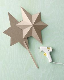 Martha's Glittered Star Tree Topper   Step-by-Step   DIY Craft How To's and Instructions  Martha Stewart
