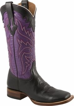 Womens Lucchese Since 1883 Black Oil Calf Leather Horseman Boots M3612