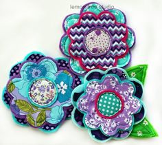 NEW Fresh Picked Flowers (McKenzie) -- Handmade Fabric and Felt Adornments via Etsy