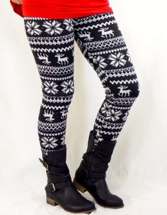 Fur Lined Thick Reindeer: Leggings | privityboutique