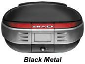"""Shad SH-50 motorcycle top case in metal black. Designed to attach to most flat luggage racks. Its dimensions are: 18.1"""" L x 23.6"""" W x 12.5"""" H and has a 50 liter capacity. Your price is $350.95. With Free Shipping."""