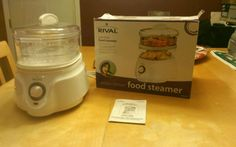 RIVAL FOOD STEAMER DOUBLE TIERED CKRVSTLM21 Used Once OPEN BOX WHITE in Cookers & Steamers | eBay