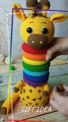 Crochet Baby Mobiles, Crochet Baby Toys, Crochet Patterns Amigurumi, Amigurumi Doll, Crochet Dolls, Crochet Yarn, Baby Knitting, Crochet Crafts, Crochet Projects