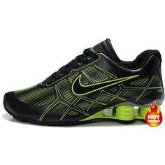Nike Shox -Turbo12 Men Green Black Mens Nike Shox ea7c430de