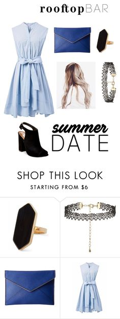 """""""Rooftop Bar Summer Date"""" by parislover6 ❤ liked on Polyvore featuring Jaeger, New Look, Rebecca Minkoff, Chicwish, Steve Madden, summerdate and rooftopbar"""