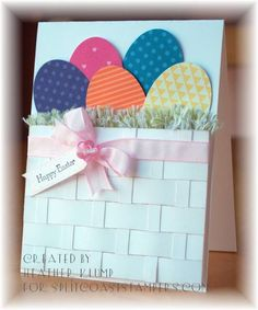 Punched Eggs -CT0313- by tankgrl - Cards and Paper Crafts at Splitcoaststampers....looove the basketweave!