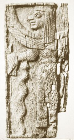 Plaque of winged goddess with serpent,  from archaic Ortheia sanctuary in Greece.  It has been suggested as an icon of Hekate