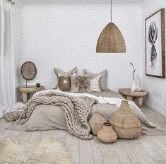 17 Scandinavian Bedroom Designs That Will Thrill You is part of Scandinavian design bedroom - Today we present some beautiful pictures of Scandinavianstyle bedrooms Scandinavian style in the interior is primarily mix of simplicity, functionality Scandinavian Bedroom Decor, Neutral Bedroom Decor, Cozy Bedroom, Summer Bedroom, Modern Bedroom, Bedroom Black, Bedroom Decor Natural, Scandinavian Design, Master Bedroom