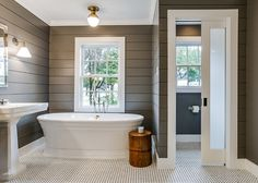 You Should Totally Bookmark These Plush Basement Bathroom Ideas Tags: Tags: basement bathroom ideas, basement bathroom plans, small bathroom design ideas, small bathroom decor ideas Rustic Master Bathroom, Shiplap Bathroom, Grey Bathrooms, Bathroom Renos, Beautiful Bathrooms, Modern Bathroom, Bathroom Vanities, Basement Bathroom, Bathroom Caulk