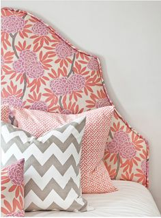 Fabric Headboard ( would be gorgeous done with Amy Butler Fabric - French Wallpaper in Duck Egg from Belle )