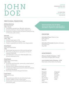 Nice resume design.