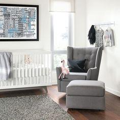 Wren Swivel Chair with Flynn Crib #nursery