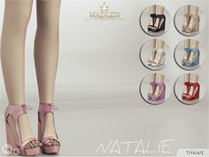 The Sims Resource: Madlen`s Natalie Shoes by MJ95 • Sims 4 Downloads