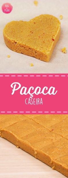 Receita de paçoca (tipo de rolha). Muito fácil de fazer, com apenas 3 ingredientes. #paçoca #doce #festajunina #paçocarolha #amendoim #receita