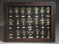 Africa | 21 Silver Tuareg crosses from Niger | Acquisition date 1997, © American Museum of Natural History