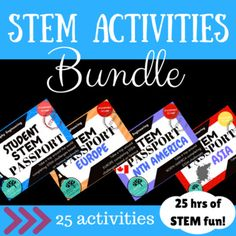 25 STEM activity challenge tasks. Travel around the world and different continents exploring engineering marvels and attempting them with your students!