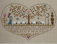 Cross Stitch - Love is where the shepherd is.