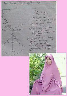 Dress Sewing Patterns, Clothing Patterns, Sewing Clothes Women, Muslim Dress, Hijab Tutorial, Cape Dress, Beautiful Hijab, Hijab Fashion, Fasion