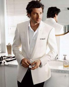 Menswear Fashion ? Patrick Dempsey ? White Groom Tuxedo