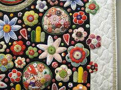 This is just a small portion of an amazing quilt by Toshiko Yazu.  2009