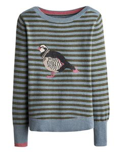 Joules null Womens Intarsia Jumper, Partridge.                     Crafted for a super-soft feel and adorned with a cool animal intarsia that is guaranteed to raise a smile whenever it makes an appearance, this jumper is great to add a bit of character to your wardrobe.
