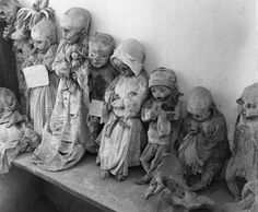 A 1955 photo of some of the infant mummies exhumed from Panteon cemetery in Guanajuato, Mexico. George Pickow/Three Lions/Getty Images