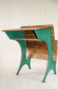 Vintage School Desk by THEFARMERSSHOP on Etsy, $75.00