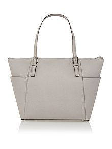 Jetset item grey zip top tote bag