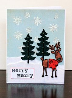 2013 Cute Christmas Handmade Greeting Cards, Reindeer Christmas Cards #handmade #christmas #greeting #cards www.loveitsomuch.com