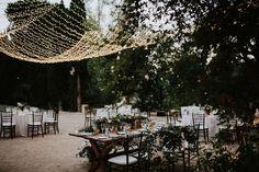 Iluminación boda, decoracion boda, guirnaldas luces, fairy lights, wedding, decoration | Photo by Prisma Blanco