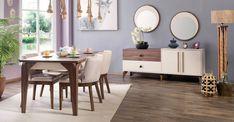 Çetmen mobilya Türkiye'nin bir çok il ve ilçesinde mağazalar açmaya devam ederken 2018 yılına adını yazdıracak olanÇetmen Mobilya Evola Yemek Odası kalitesi ve işlevselliği ile karşınızda. Çetmen Mobilya Evola Yemek Odası ekru ve antik kahve renk tonlarının hayat verdiği konsol , konsol ayna panoları , yemek masası ve sandalyelerden oluşan modern bir duruşa sahip , uzun yıllar size eşlik edebilecek lüks bir model. Yemek odası takımında yer alan uzun ahşap ayaklı 2 çekmece , 2 kapaktan ol...