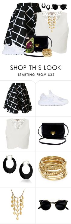 """""""Black and White Summer Fashion"""" by cricketdiane ❤ liked on Polyvore featuring NIKE, Lipsy, Bling Jewelry, ABS by Allen Schwartz, John Hardy, Summer, pretty, blackandwhite and fashionset"""