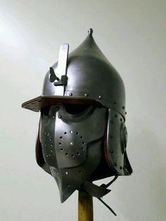 Part profile view - Practice Chichak helmet - 16th C. Mamluk/Ottoman. Created by Edward Shayhutdinov, Kazan, Tatarstan, Russia.