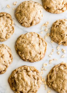 The BEST Oatmeal Cookie Recipe - crispy edges with soft and chewy centers, these oatmeal cookies are easy to make (no chilling, simple ingredients) and out-of-this-world delicious. Add your favorite mix-ins for an extra special twist! Soft Chewy Oatmeal Cookies, Banana Chocolate Chip Cookies, Oatmeal Cookie Recipes, Easy Cookie Recipes, Raisin Cookies, Dessert Dishes, Dessert Recipes, Homemade Desserts, Recipes Dinner