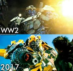 """Bumblebee was never """"cuddly."""" He is a soldier (probably even CHILD soldier) from a millenia-long war. Look at his actions throughout the movies & beyond, and you'll see... He's friendly, but scrappy. He's playful, but never far away from violence. He's not a bad person at all, and in fact, he's one of the most gentle Autobots you could meet, considering his background.. but Drift was right, those """"puppy dog eyes"""" are an act. His real face shows when his battlemask shifts down.."""