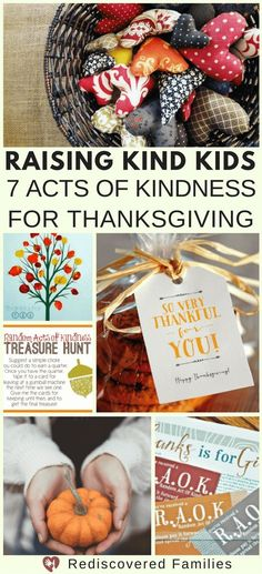 Raising Kind Kids: 7 Acts of Kindness For Thanksgiving