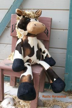 Rustic Horseshoe's Original Nutty Nag Plush Horse | Sewing Pattern | YouCanMakeThis.com