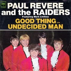 """Paul Revere & The Raiders featuring Mark Lindsay """"Good Thing"""" / """"Undecided Man"""" (1966) — 45 rpm Record Sleeve"""