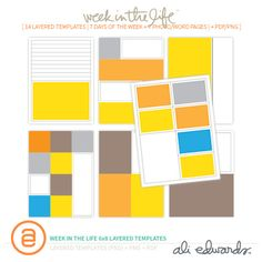 Week In The Life 6x8 Layered Templates at Ali Edwards #WISHLIST #CHRISTMAS #BIRTHDAY