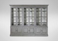 Villa Triple Library Bookcase | Stonestreet / Milk White (369/635)