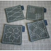 """Japanese Embroidery Patterns Sashiko Tutorial - Sashiko 刺し子 is a Japanese style of needlework. Literally meaning """"little stabs,"""" sashiko was originally used to strengthen . Cross Stitch Embroidery, Embroidery Patterns, Hand Embroidery, Embroidery Scissors, Embroidery Needles, Broderie Bargello, Shashiko Embroidery, Broderie Simple, Japanese Embroidery"""