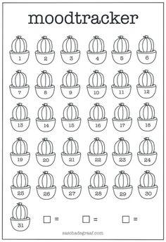 Gratis bulletjournal moodtracker cactus Bullet Journal Paper, Bullet Journal Mood Tracker Ideas, Bullet Journal Month, Creating A Bullet Journal, Bullet Journal Printables, Bullet Journal Lettering Ideas, Bullet Journal Notebook, Bullet Journal Aesthetic, Bullet Journal School