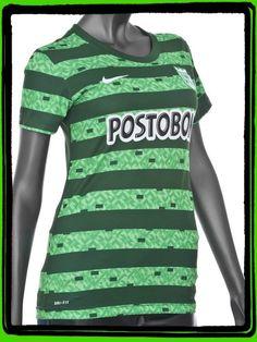 Camiseta Dama M/C Visitante 2 Atlético Nacional 2014 Marca Nike Talla   M L Precio $ 89.990