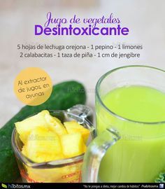 Hábitos Health Coaching   Jugo de vegetales DESINTOXICANTE