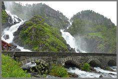 Låtefossen waterfall - Odda in Hardanger - Norway
