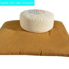 Meditationsmatte Zabuton Extra thick (khaki)