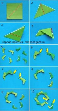 Wow--the world's most straightforward origami wreath? Have not tried it yet....