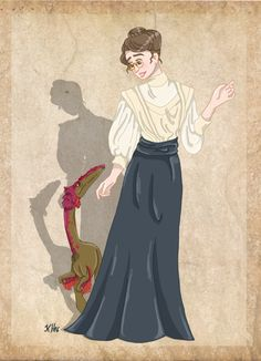 Mignon Talbot and her Podokesaurus by Pelycosaur24 on DeviantArt
