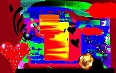 Abstrato produzido no ArtRage